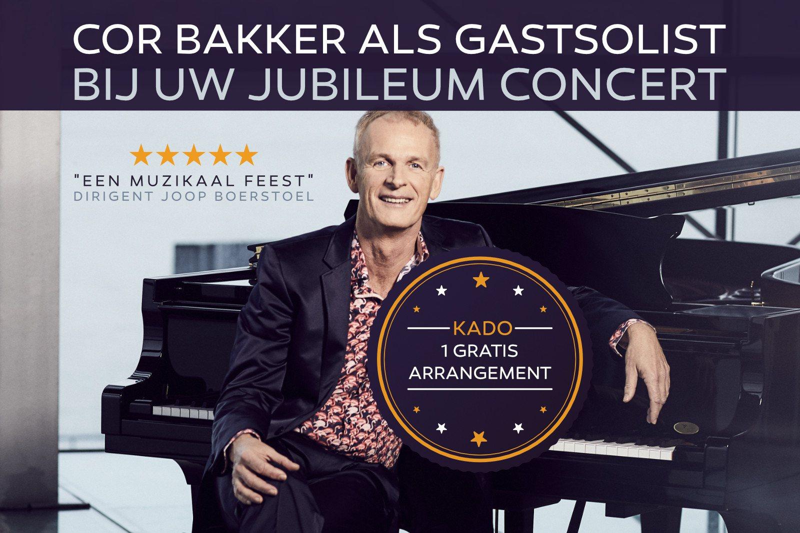 Cor Bakker als gastsolist bij uw jubileum concert - harmonie orkest, fanfare